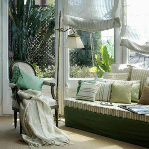 Дизайн римских штор для гостиной