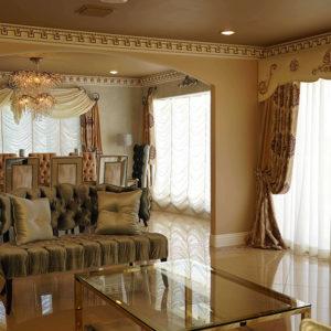 Дизайн прямых штор для гостиной