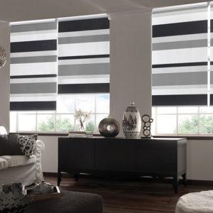 Дизайн рулонных штор для залы
